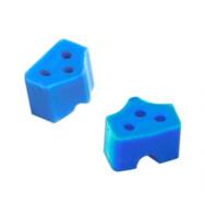 Насадки силиконовые на кольца синие (40шт) ТОР ВМ