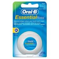 Флосс OralB Essential – зубная нить 50м (плоская, тонкая, вощеная, мятная)