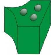 1.861 Насадки силиконовые на кольца зеленые (40шт) ТОР ВМ